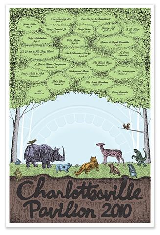 2010 Charlottesville Pavilion Concert Series Poster
