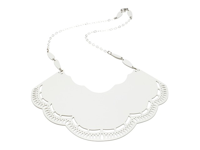 Decorative Edge Bib Necklace