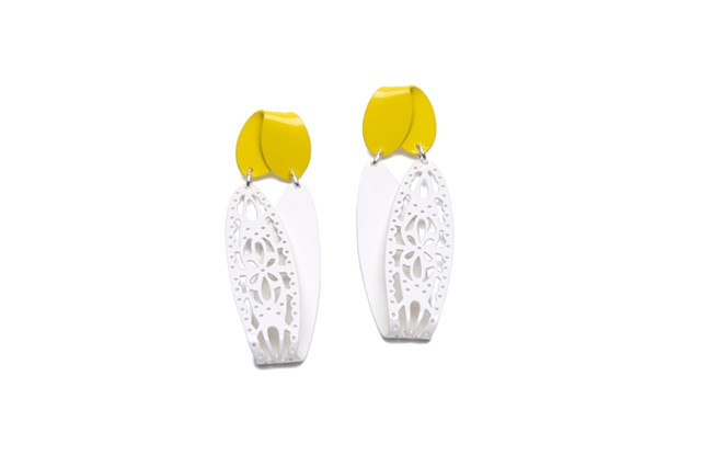 Double Fold Earrings with Piercing