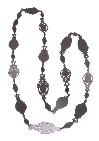 30pc Pierced Chain - Slate and Charcoal