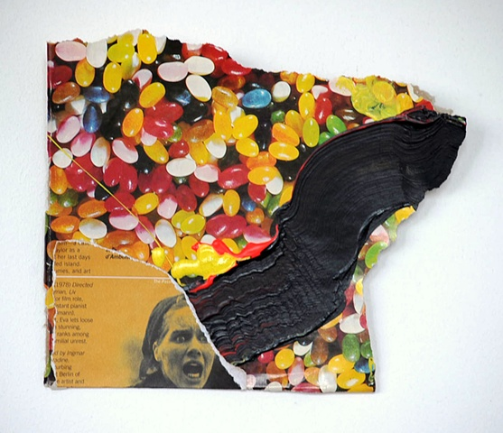 Jelly beans, 70s, abundance, the Secret, Oprah, BAM, collage