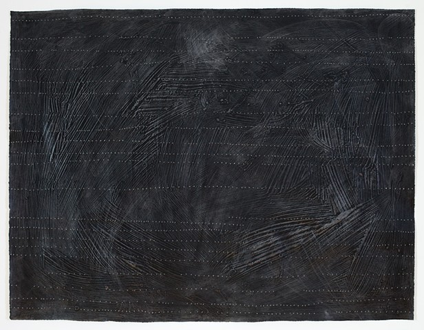 "Untitled (Passage IIIIII) - acrylic and graphite on paper, 38 1/2"" x 50"""
