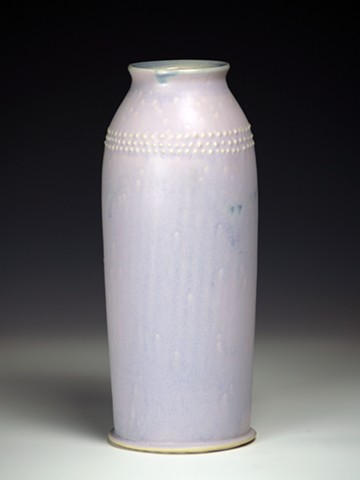 Purple Vase with Dots