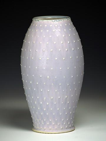 Purple Vase with Dots