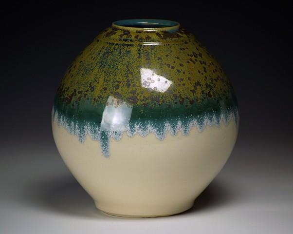 Green/White Vase