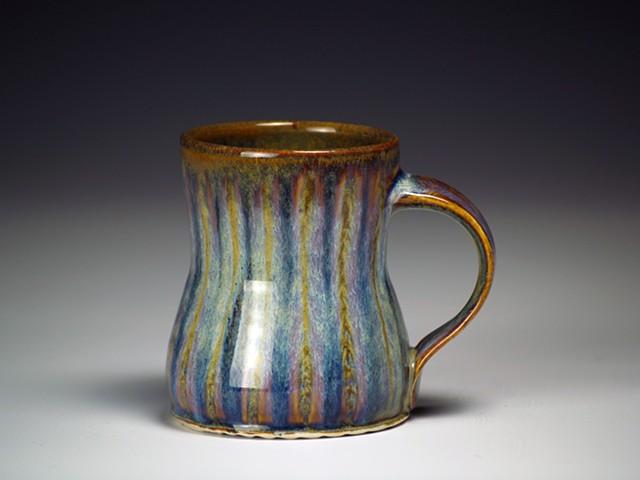 Brown/Blue Striped Mug