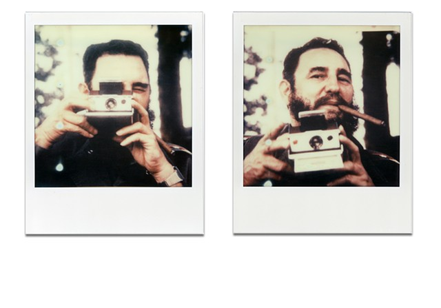 """I don't rely on mirrors, so I always take Polaroids."""