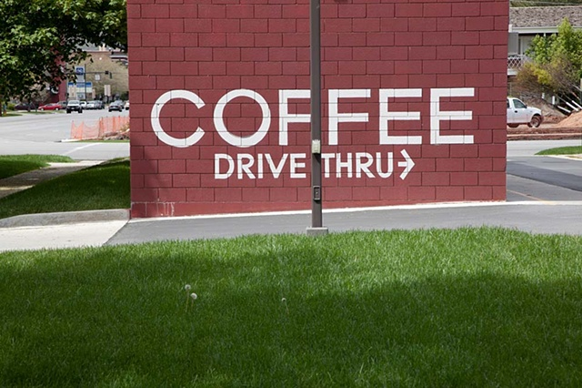 Salt Lake City, Coffee, Drive In, sign