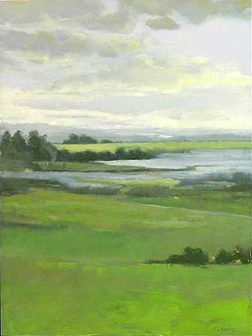 Green Fields With Pond - sold