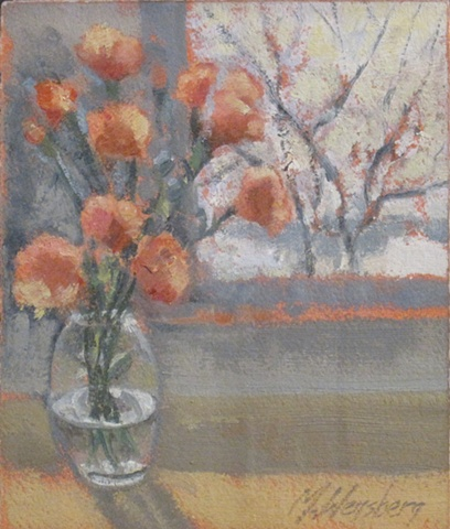 Carnations In Winter - sold