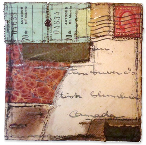 Crystal Neubauer Collage Mixed Media Altered Fine Art