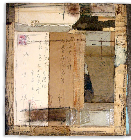 Crystal Neubauer Original Fine Art Collage Mixed Media 12 x 30