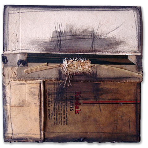 "Crystal Neubauer Original Collage Mixed Media  Fine Art 6"" x 6"" Utterings"