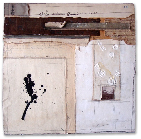 Crystal Neubauer Original Collage Mixed Media  Fine Art 10 x 10