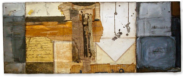 Crystal Neubauer Collage Oil Mixed Media Painting
