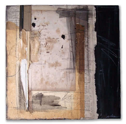"Crystal Neubauer Original Collage Mixed Media  Fine Art 12"" x 12"""