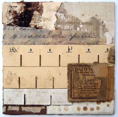 Crystal Neubauer Original Fine Art Collage Mixed Media