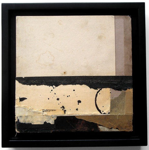 Crystal Neubauer Original OOAK Fine Art Framed 6 x 6 Collage Mixed Media - Abstract