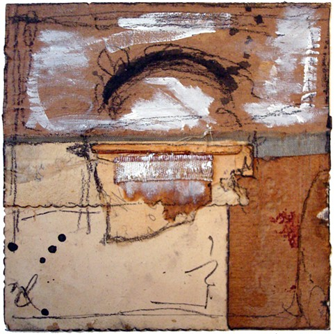 Crystal Neubauer Collage Encaustic Mixed Media Fine Art Salvaged Material Altered