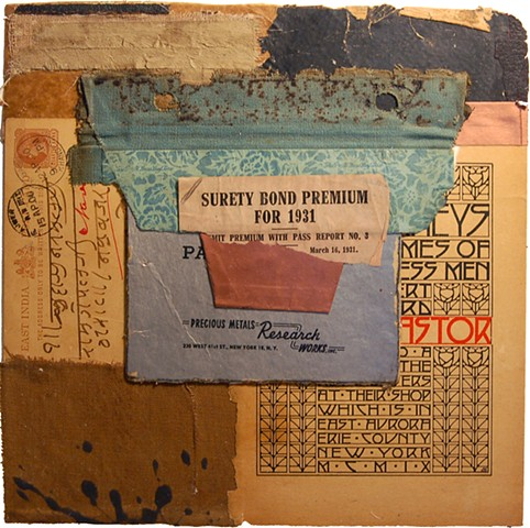crystal neubauer collage mixed media art salvaged antique paper contemporary art