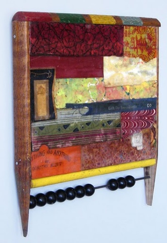 Collage Encaustic Assemblage Reclaimed and Repurposed