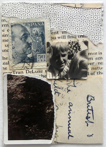Crystal Neubauer Original Fine Art COLLAGE ATC Sampler Mixed Media: UTTERINGS A Wordless Prayer Series