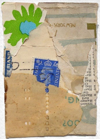 Original Fine Art COLLAGE ATC Sampler Mixed Media: UTTERINGS A Wordless Prayer Series