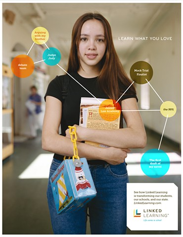 Linked Learning ad campaign Law Pathway