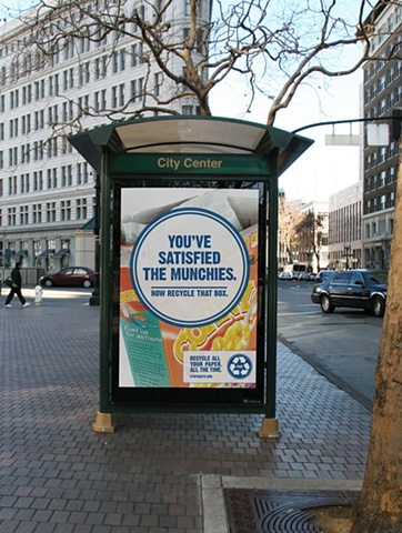 Stop Waste. paper recycling campaign
