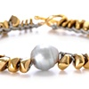 GREY PEARL MIXED NUGGET BRACELET
