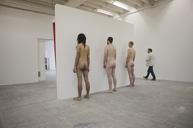 Gloria Patri (standing in the rouse of control) Installation view (back)