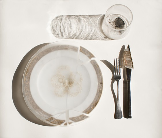 Dinner Setting With Glass Knife