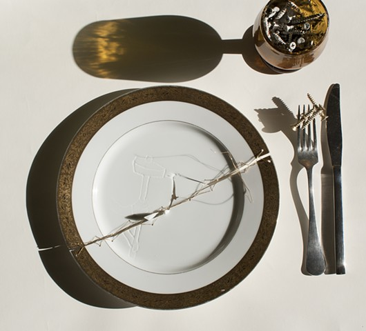 Dinner Setting With Big Screws
