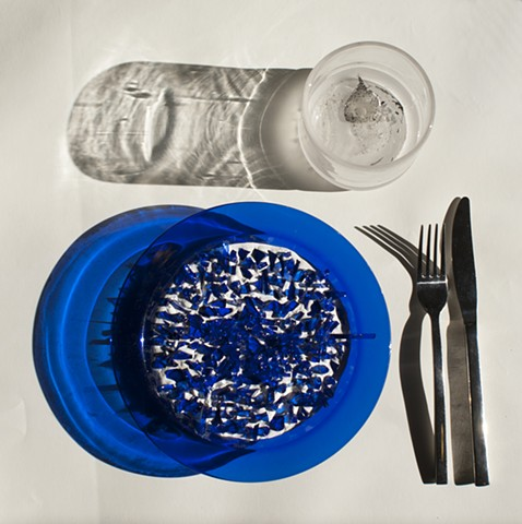 Dinner Setting With Blue Plate