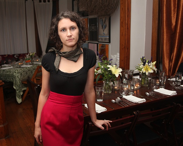 Nina Barnett, before her artist talk on September 28th