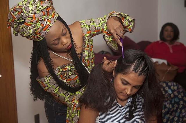 Fatimata Traore  braiding hair