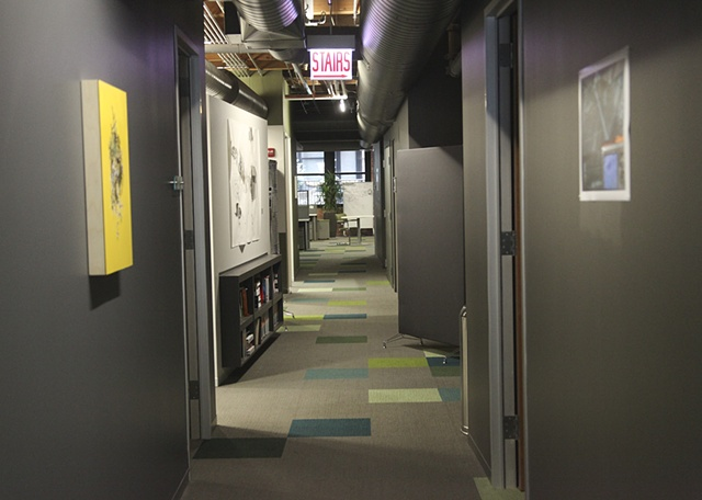 Installation view,  Nina Barentt & Stephen Eichhorn