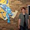 Artist Mara Baker (left multi media piece by Mara Baker, right archival pigment print by Robin Juan)