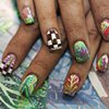 Nails by Naughty Nailz, inspired by Jenn Wilson's paintings.