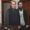 Isak Applin and Carl Baratta at Sunday Dinner Club talk