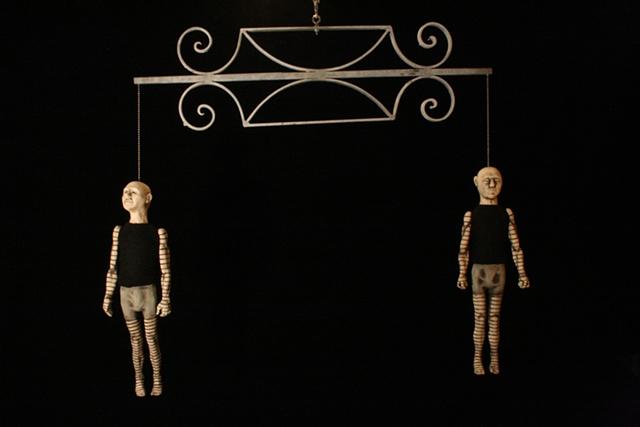 marionette ceramic sculpture mixed media kinetic