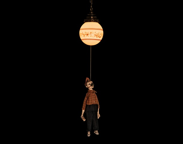 marionette ceramic sculpture mixed media