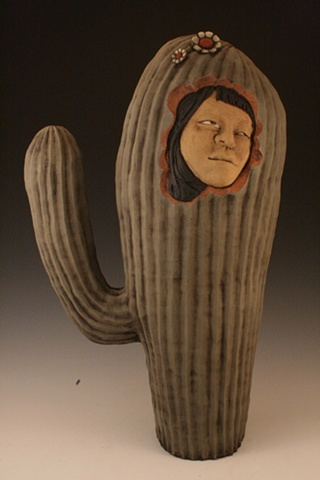 cactus, ceramic, sculpture