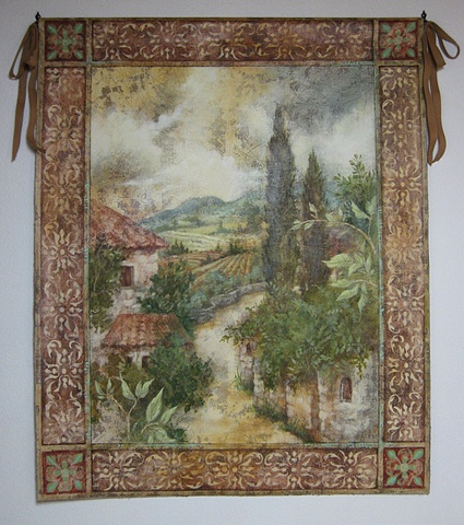 Painted tapestry