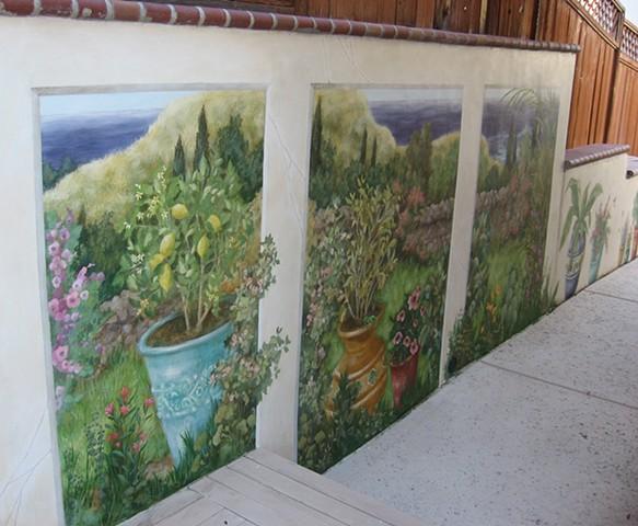 Mediterranean Garden Mural
