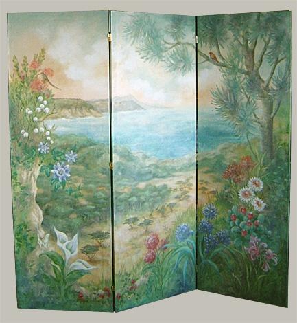 Folding Mural Screen