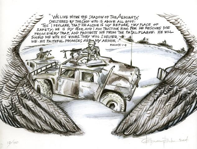 Iraq Humvee Caravan Prayer