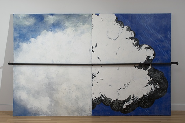 Clamped Cloud Reformation Painting