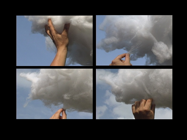Hand With Cloud Video Installation