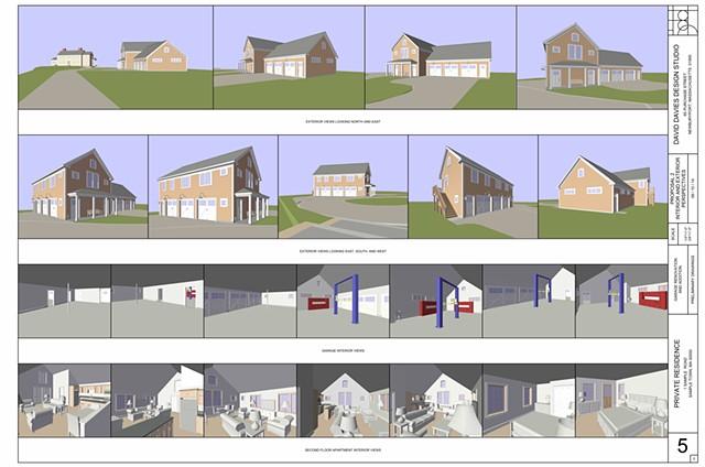 Garage Option 1.5 - Perspectives